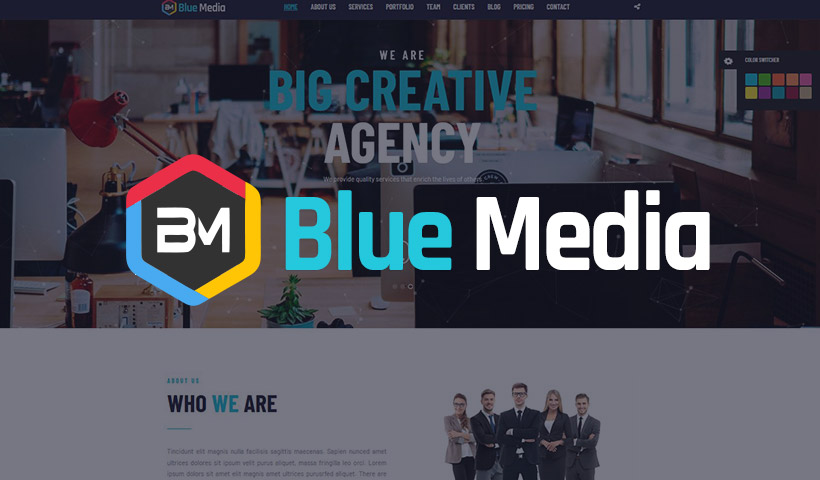 BlueMedia THEME Creative Business website